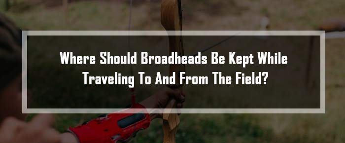 where should broadheads be kept while traveling to and from the field